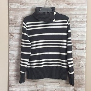 Liz Claiborne Pull Over Cowl Neck Size Large